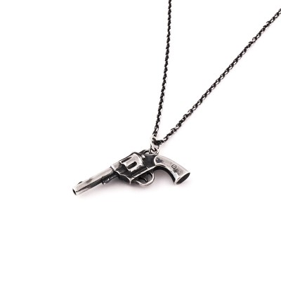 the six-shooter necklace aj357 sterling silver