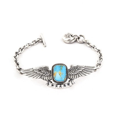 turquoise wing aj357 sterling silver